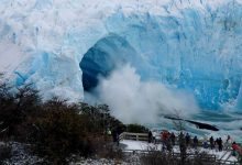 Photo of Así cayó el puente de hielo del glaciar Perito Moreno