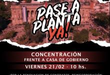 Photo of Trabajadores precarizados vuelven a manifestarse frente a Casa de Gobierno
