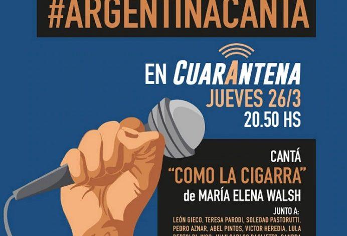 "Photo of Esta noche, ""Argentina canta en cuarentena"""