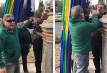 Photo of Ex combatientes de Malvinas intentaron bajar la bandera LGBT