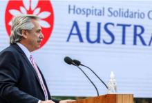 """Photo of Alberto Fernández inauguró un """"hospital solidario"""""""