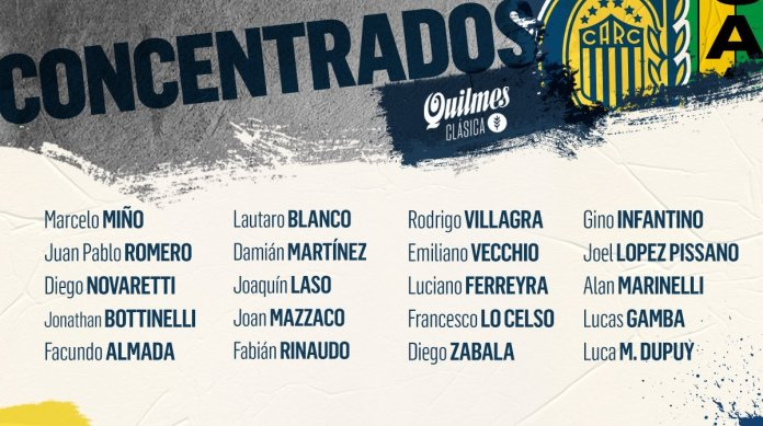 Photo of Central confirmó los concentrados para jugar ante Aldosivi