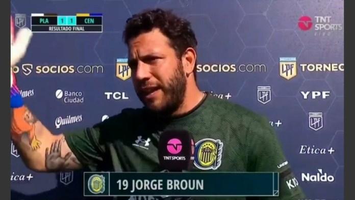 Photo of Jorge Broun contra TNT Sports